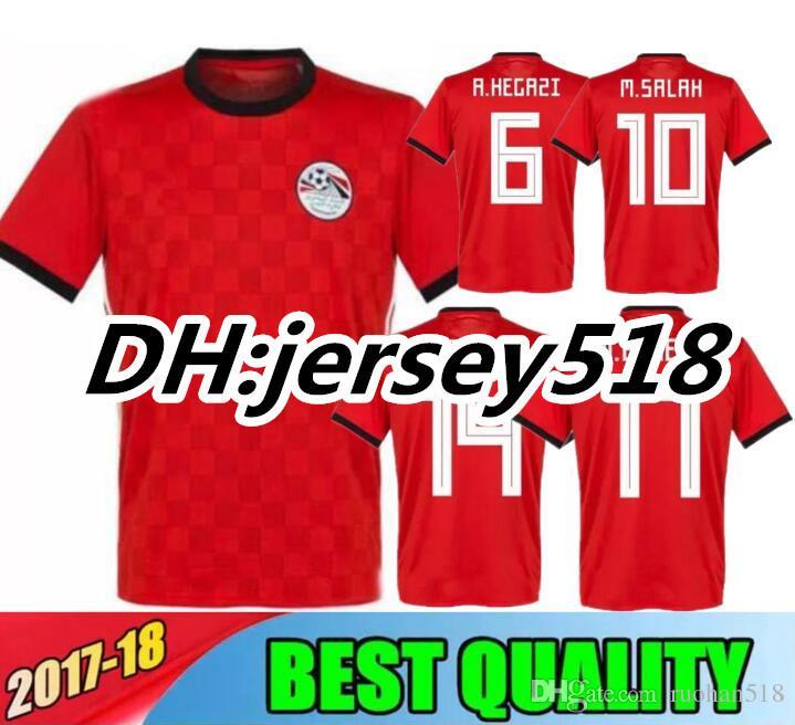 733d9e84c 2018 World Cup Egypt Soccer Jersey Thai Quality M.SALAH M.ELNENY ...