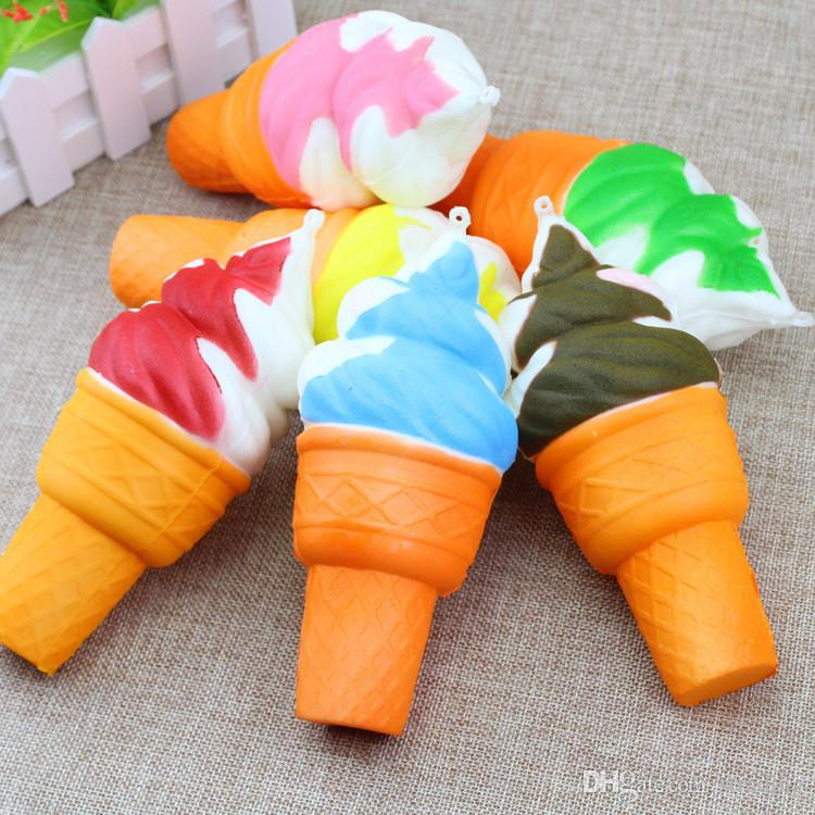 2018 3D Bonito Jumbo Raro Squishy Charme Gelado Telefone Correias keychain Squishy Lento Rising Squishies Squishies Brinquedos Para As Crianças Brinquedo presente de Natal