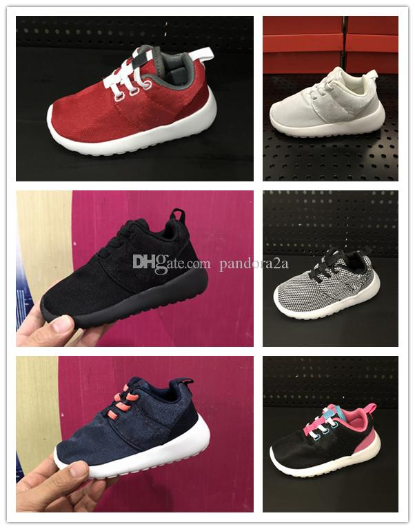 752e50df411e3 Compre Nike Roshe Run Rosherun Correr Para Niños Zapatos Deportivos Para  Niños Niños Niñas Beluga Negro Rojo Blanco Zapatillas De Deporte Cebra  Zapatillas ...