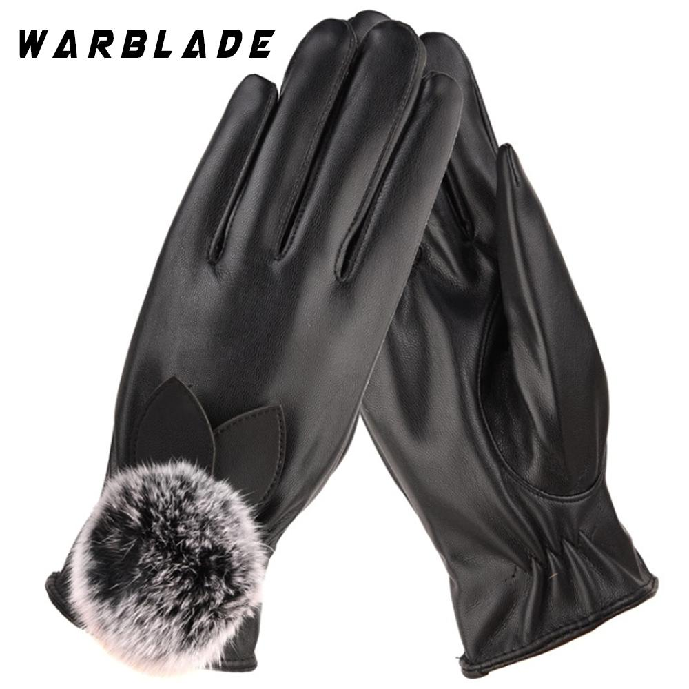 Frauen Mädchen Luxuriöse Echtes Leder Handschuhe Weibliche Winter Super Warm Kaschmir Handschuhe Schwarz Handschuhe GüNstige VerkäUfe Armstulpen