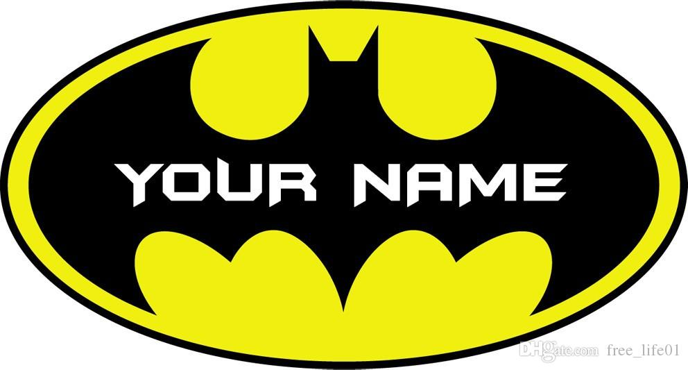 Best Gift Name Customed Personalised Batman Logo Decal Removable