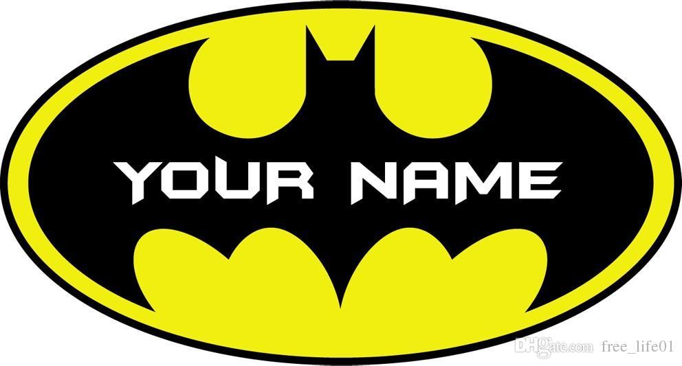 Bester Geschenk Name Personalisiert Personalisierte Batman Logo Aufkleber Abnehmbare Wand Aufkleber Wohnkultur Kunst Ihr Name
