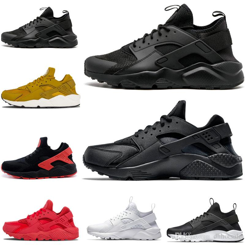 8796e751df12 Hot Sale Triple White Black Huarache 4.0 1.0 Running Shoes Classical Red  Rose Gold Men Women Shoes Trainers Shoes Sneakers US Size 36 45 Shoe Shop Mens  Sale ...