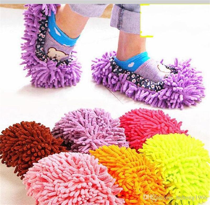 Çok Fonksiyonlu Şönil Tembel Ayakkabı Kapak Evi Temizleyici Kat Paspas Toz Terlik Toz Temizleme Ayak Ayakkabı Araçları 1 75zm Y