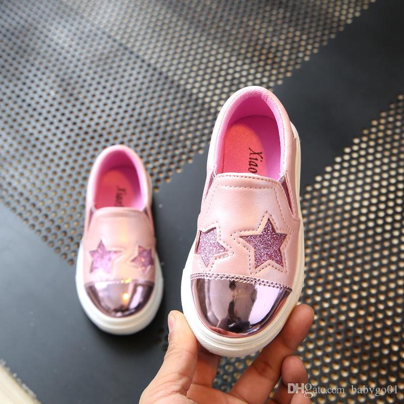 dff3c947e 2019 4 12 Year Children Shoes Girl Sneakers 2018 New Fashion Casual Shoes  Kids Running Sports Shoe For Girls Slip On Flat Soft Shoe From Babygo01