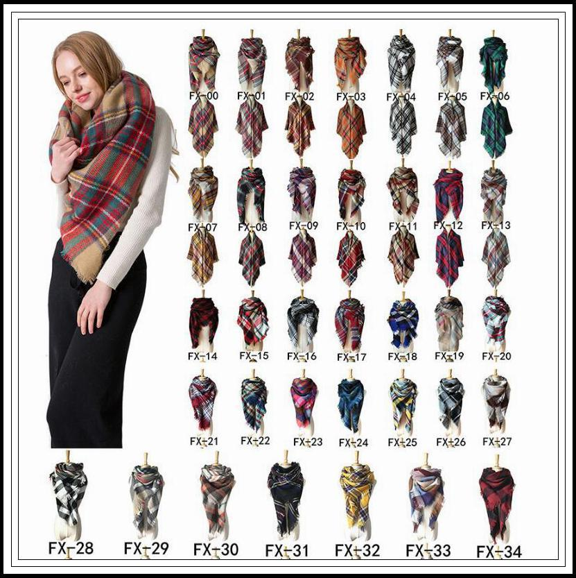 3301505ce 2019 2018 37 Styles Winter Plaid Scarf Square Tassel Scarves Oversize  Blanket Scarf Shawl Fashion Plaid Shawls Thick Warm Scarf CCA10243 From  Panthers, ...