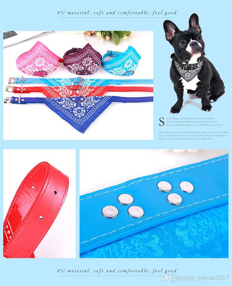 2018 Fashion Dog Bandana Triangle Scarf Collars Pet Cat Puppy Collars Fashion Dog Necklaces Pet Supplies