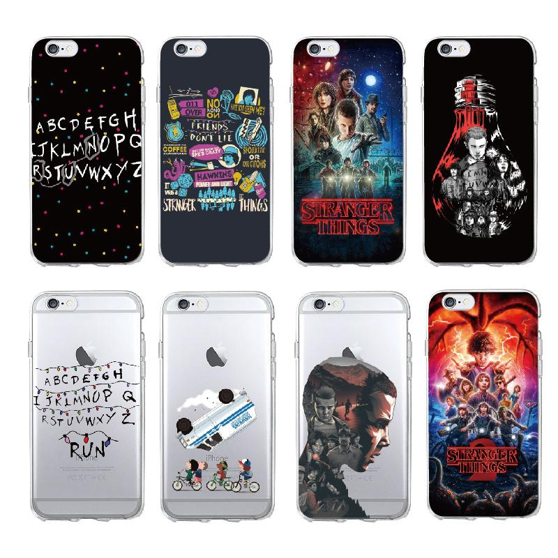 buy popular 920e9 b6251 Stranger Things Christmas Lights Soft silicone TPU Phone Cases For iphone 7  7Plus 6S 6Plus 5 5S SE 8 8Plus X Cover