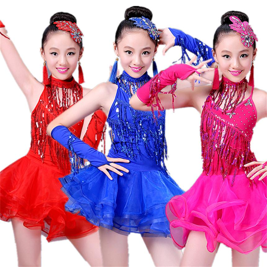 Grosshandel Kinder Latin Dance Kleid Fur Madchen Tanzen Outfit