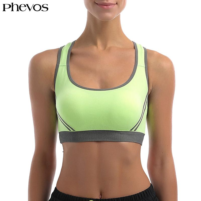 eb4c29ec158 2019 Phevos 2018 New Sexy Brassiere Fitness Bra For Yoga Running Gym Women  Shockproof Sports Bra Padded Cross Strap Tank Top 1563 From Peniss