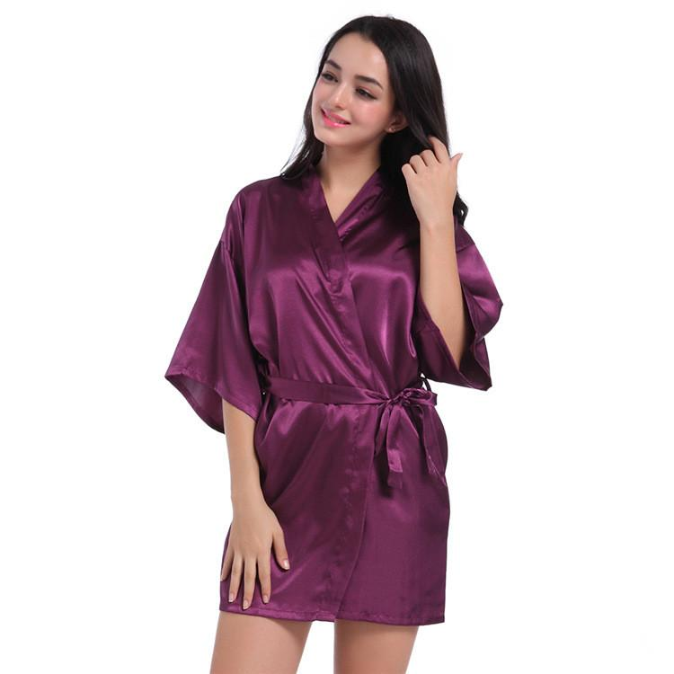 Summer Adult Women Mini Rayon Robe Half Sleeve Pajamas Sleepwear Nice  Bedgown Dressing Gowns Smooth Sexy Nighty UK 2019 From Sweatcloth 54ba20beb