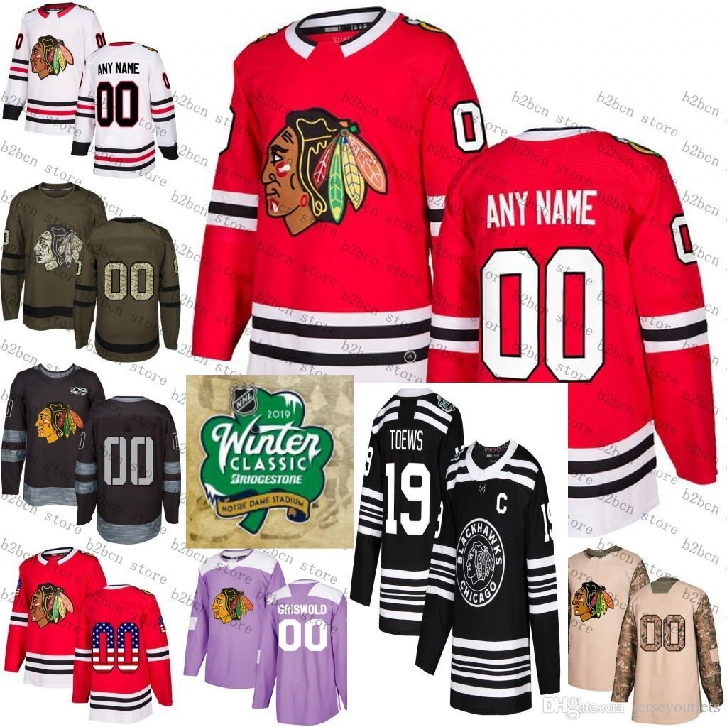 2019 2019 Winter Classic Custom Chicago Blackhawks Men Women Youth 88  Patrick Kane 19 Jonathan Toews Corey Crawford Hockey Jersey Stitched From  ... de57e5e7a