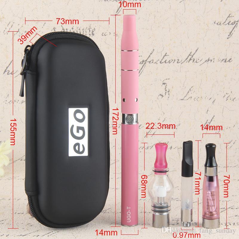 4in1 Восковое масло Dab Стеклянный купол Vape Ручки UGO T 4 в одной сухой травы Eliquid 4 в 1 EVOD EGO Vaporizer