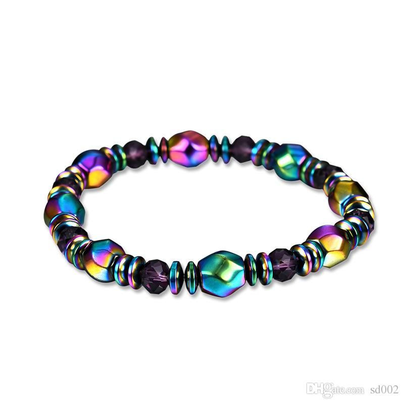 Colour Natural Magnetite Bracelet Manual Weave The Newest Designer Hand Chain For Women Therapy Beads Wristband 3 27lg WW