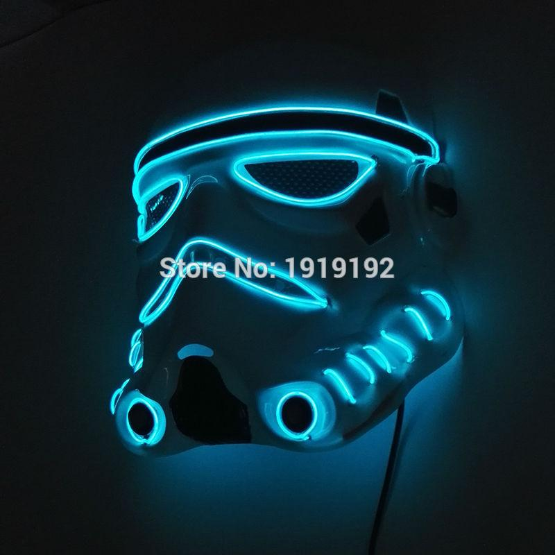 24 Style Colorful El Wire Halloween Terrified Mask Flashing Led Neon ...