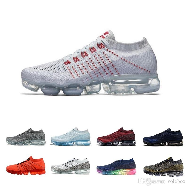 2018 Vapormax Mens Casual shoes Sale Light Soft Sneakers Women Breathable Athletic Sport Shoe Corss Hiking Jogging Sock Shoe Sneakers sale 2014 unisex best prices for sale cheap sale official site sale recommend e5mubB3SM