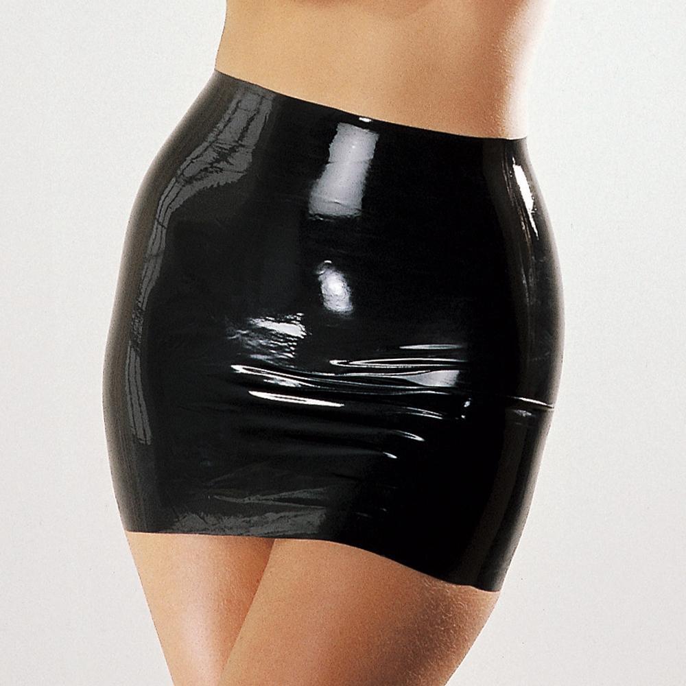 ea3a9f3e7 Mujer sexy falda de látex 100% caucho natural fetiche mini faldas trajes  exóticos trajes Y18102205