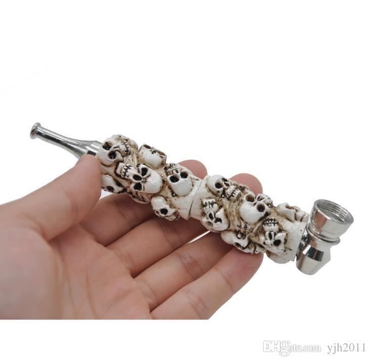 Metall Resin Pipe New Skull langen Mund mit Cover Filter Kito Rohr Schädel Metallrohr