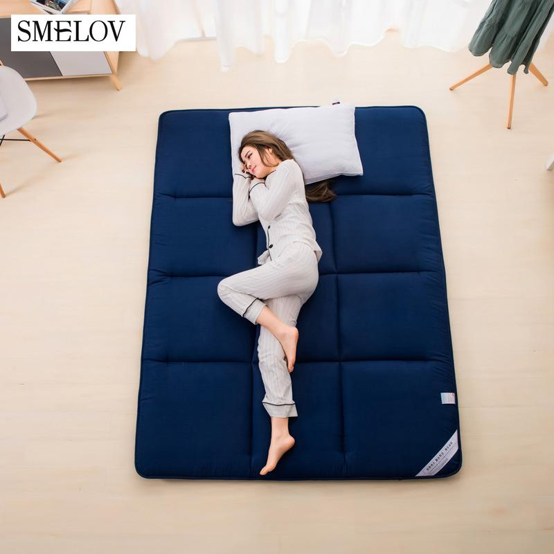 2019 Pure Color Thicken Sleeping Bed Mattress Folded Massager Yoga Tatami  Mattresses Floor Mat Double Single Bed Mattress Toppers From Aurorl, ...