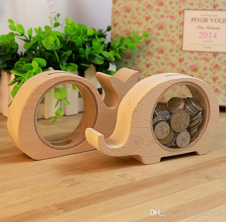 Großhandel Holz Tiere Geld Sparen Box Beste Geschenke Für Kinder ...