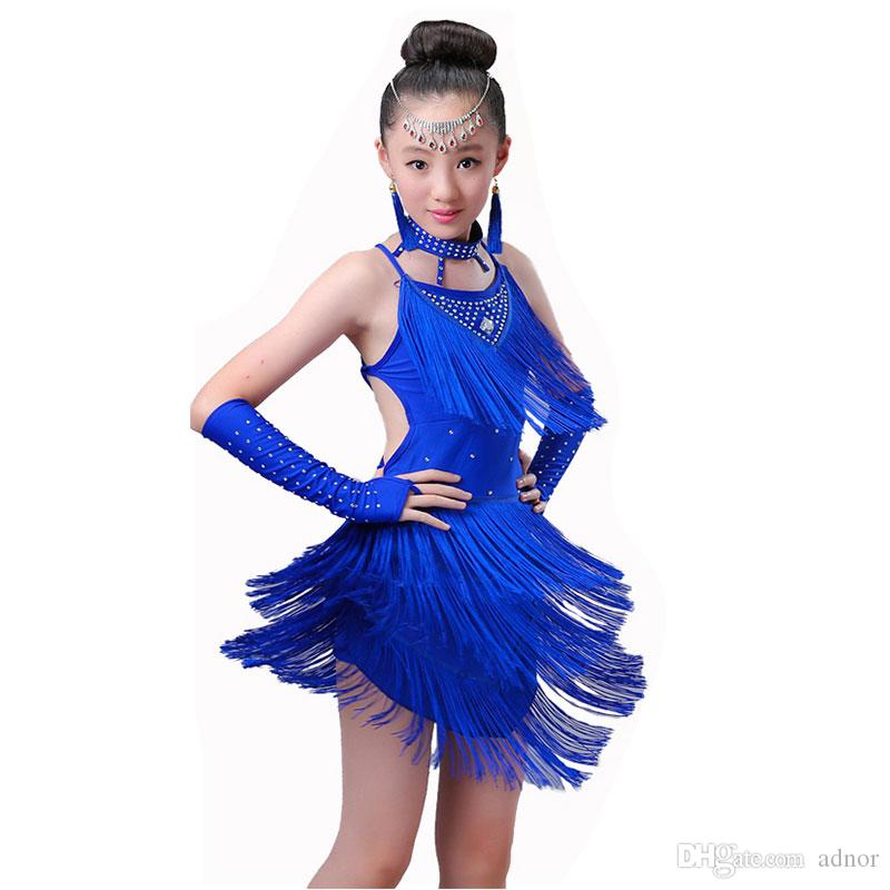 83a8dddb960bb 2019 Competition Girls Latin Dance Dress Costumes Child Ballroom Dance  Costume Salsa Latin Dance Dress For Girls Latin Dancing Dress From Adnor,  ...