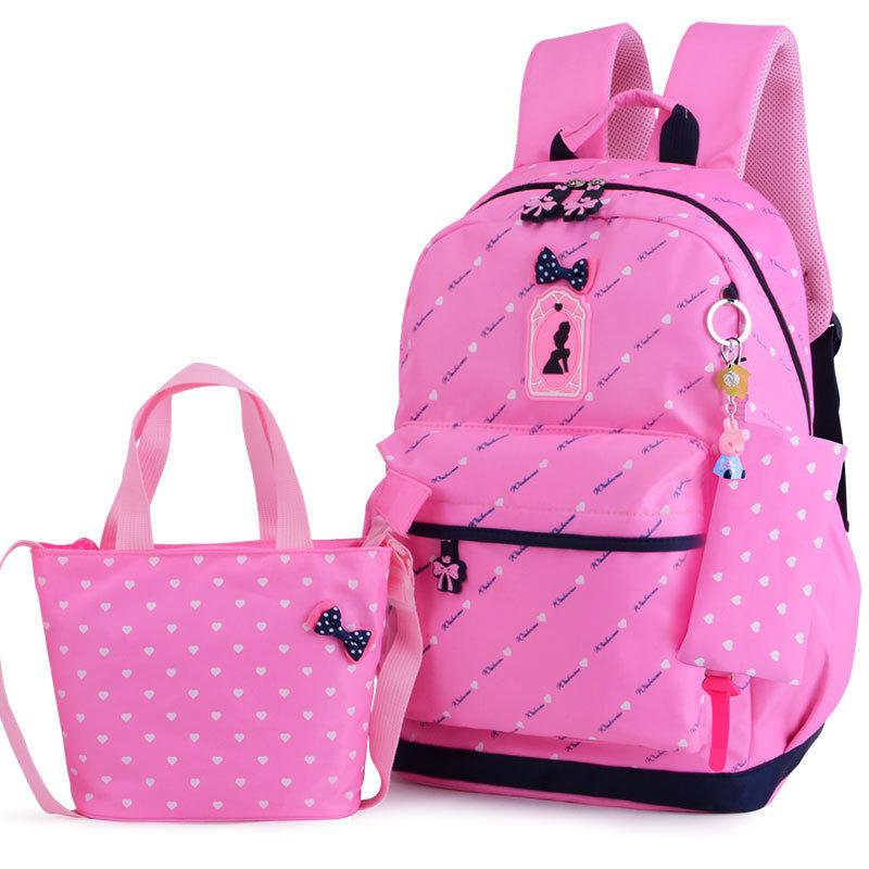 5147c42b4e 2018 Children Bags Teenagers Girls Printing Rucksack School ...
