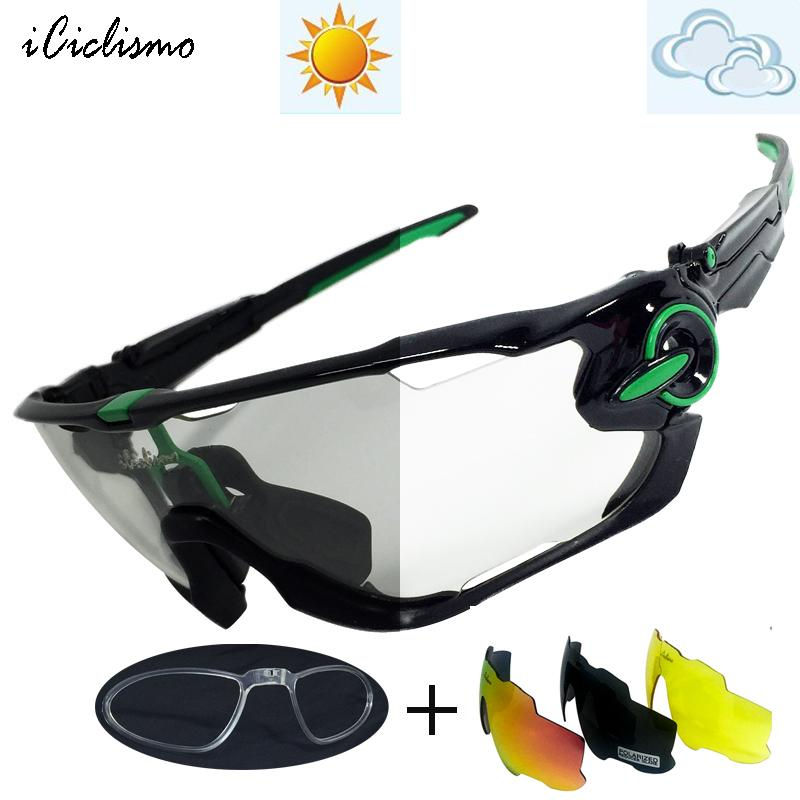 7167d4c719 Photochromic Cycling Sunglasses 2017 Bike Cycle Glasses Goggles ...