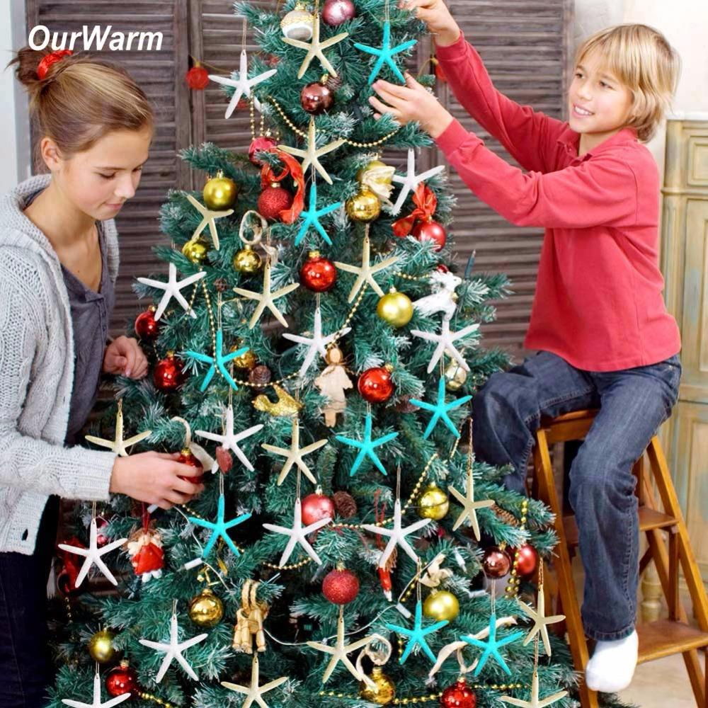 ourwarm christmas tree ornaments artificial starfish for coastal beach xmas christmas decorations new year decor for home christmas decoration sales online