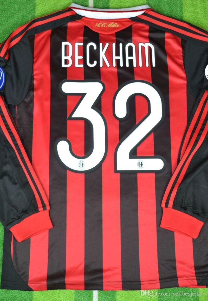 88245a39b4e Retro Jerseys 2009 2010 Serie Maldini Beckham Kaka Inzaghi Ronaldinho Ac Shirts  Retro Jerseys 2009 Maldini Jersey 2010 Kaka Shirt Online with  47.64 Piece  ...