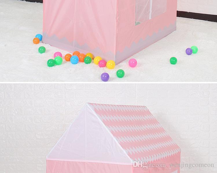 Bambini Tenda da spiaggia Ragazza Bella Rosa Gioca Gioco Casa Ocean Ball Tenda Princess Castle Tenda da esterno giochi Giocattoli 100 * 70 * 110 cm