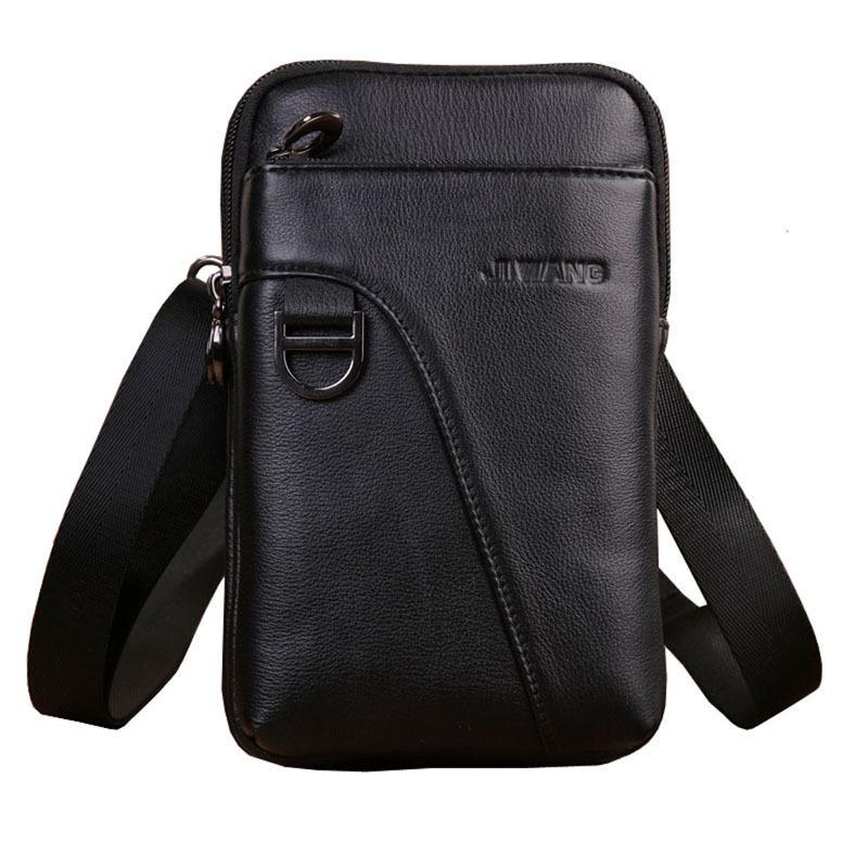 d0ece92118e26 Men s Genuine Leather Waist Bag Fanny Pack Mobile Phone Case ...