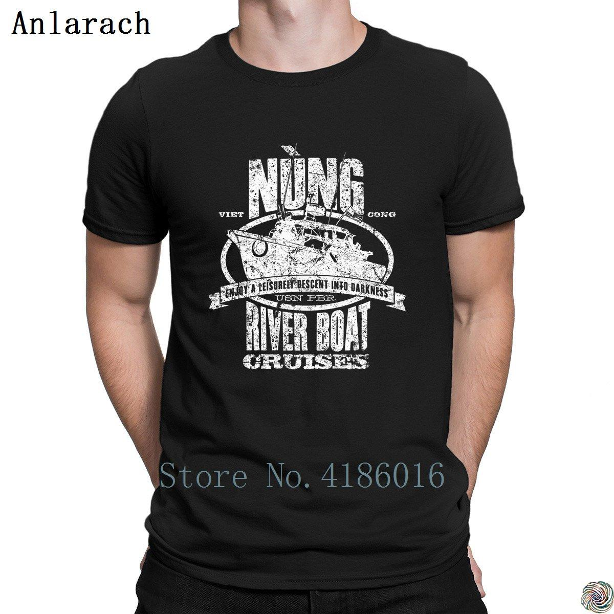 dd204fc7 Nung River Boat Cruises t-shirts Pop Top Tee The new Pattern Print men's  tshirt round Neck Clothes Spring Anti-Wrinkle