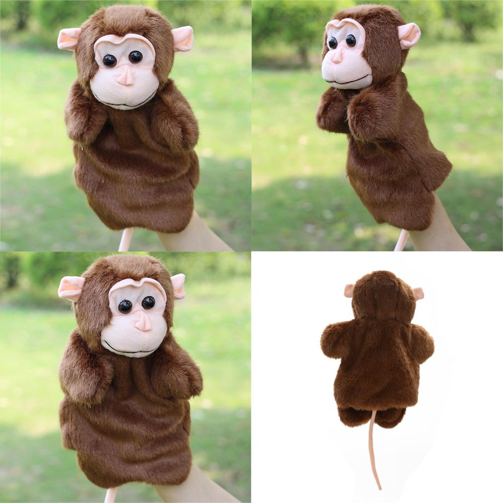 Cute Monkey Hand Puppet Family Role Pretend Playing Toy Baby Kids Child Developmental Soft Doll Plush Toy Christmas Gift