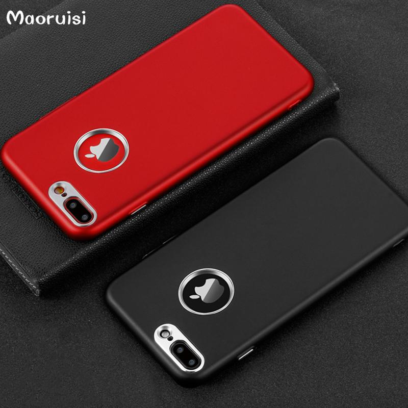 new styles beecf d2695 Phone Case For iPhone 7 Plus Soft Silicone + Metal Bumper Case On The For  Apple iPhone 6 6S 8 Plus I6 I7 Back Cover Coque Shell
