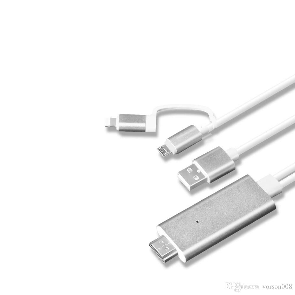 Blitz zu HDMI Kabel Adapter, Blitz Digital AV Adapter Micro USB zu HDMI 1080P HDTV Kabel für iPhone XS Max / XS / XR