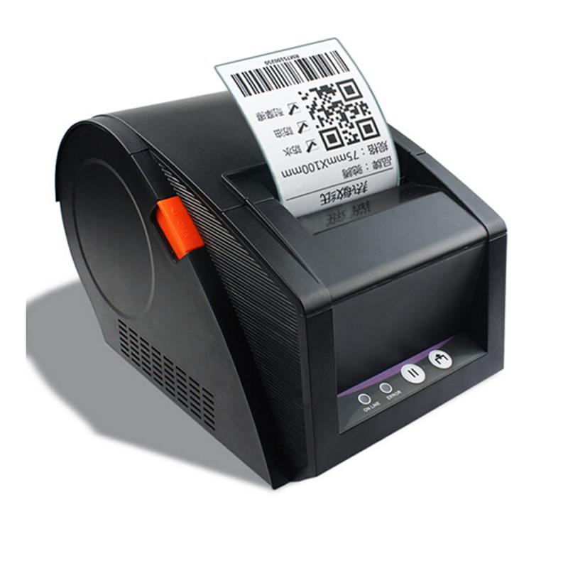 New 80mm barcode label printer 3120tu support qr code thermal sticker printers used for supermarket business office selphy printer small printer from