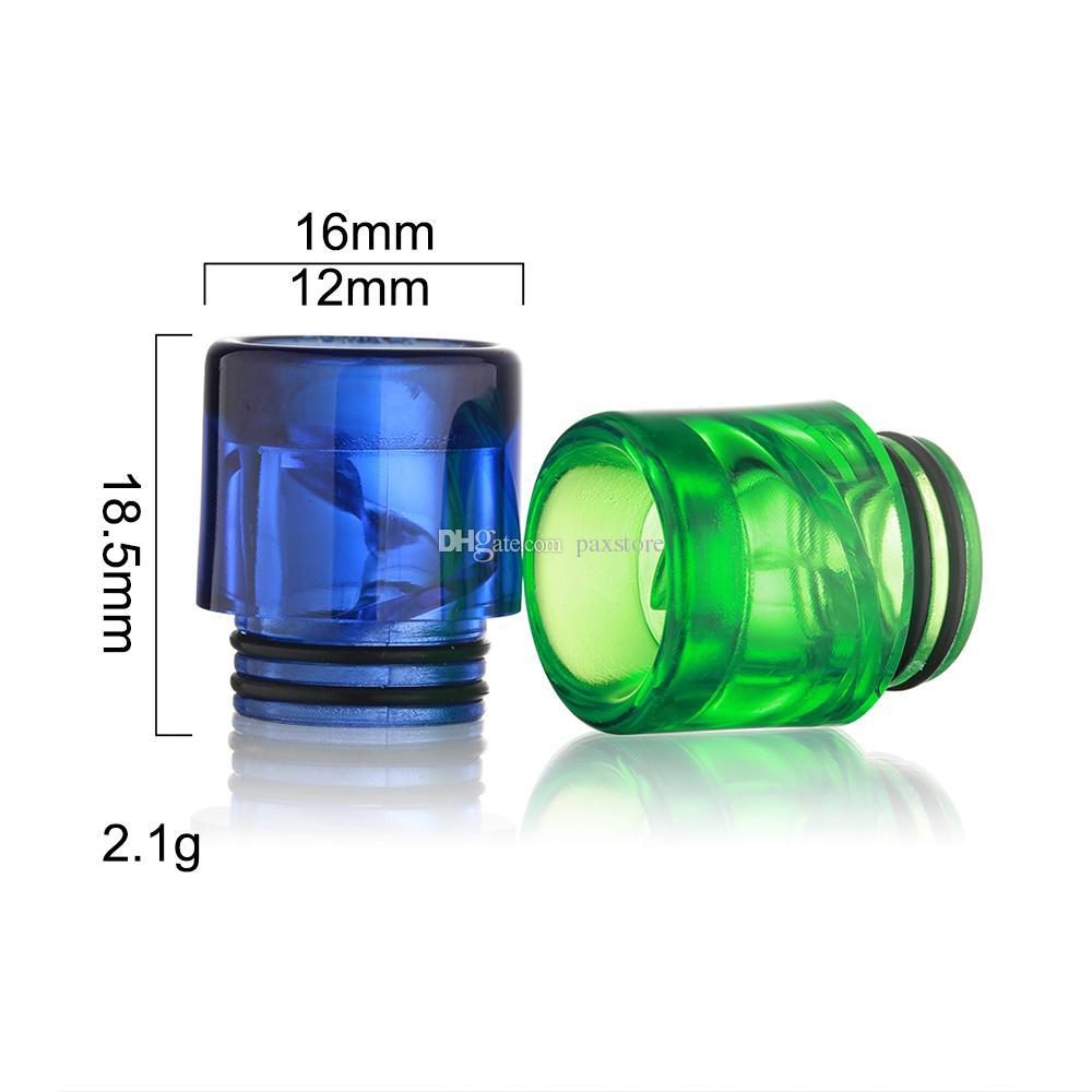 810 나선형 립 팁 Ecig 810 나선형 나선형 마우스 피스 최고 품질의 전자 담배 공기 흐름 마우스 피스 Ecig DHL 무료