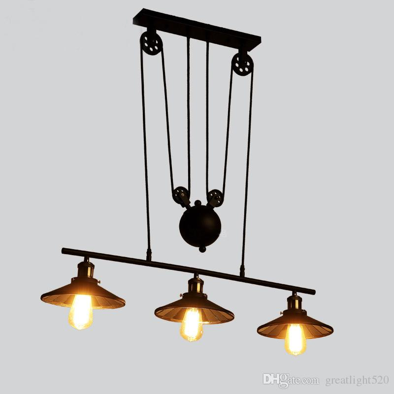 Newest Retro Industrial Pulley Pendant L& Retractable Lifting Pully Ceiling Light Pulley Pendant L& Pully Ceiling Light Retractable Pendant Light Online ...  sc 1 st  DHgate.com & Newest Retro Industrial Pulley Pendant Lamp Retractable Lifting ...