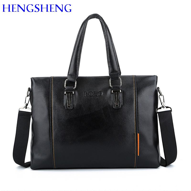 843209c5c73e HENGSHENG Polo Briefcase for Fashion Laptop Briefcase of Quality Pu ...