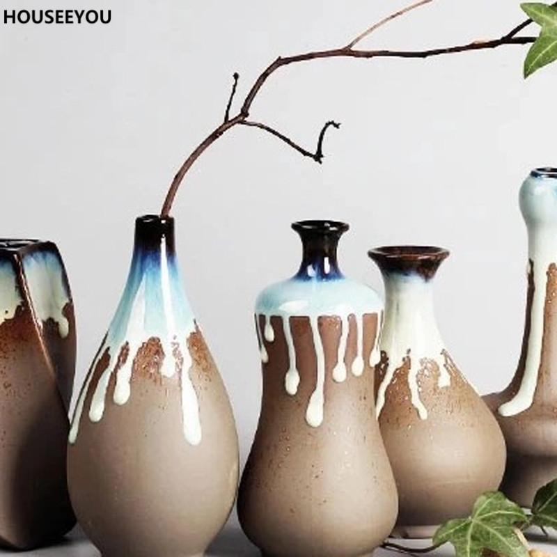 Modern Minimalist Creative Ceramic Large Flower Vase Household