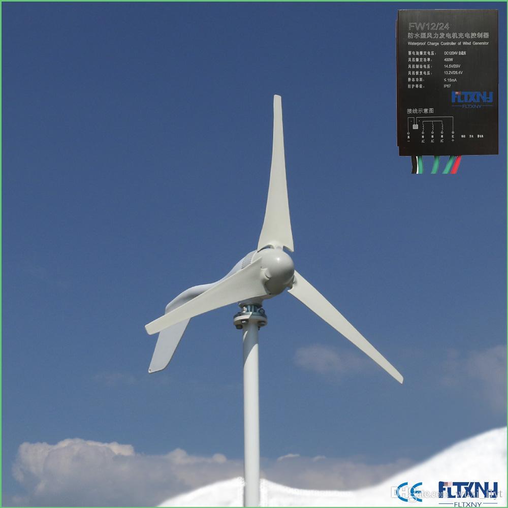 ffc0854e47b Compre Boa Turbina Eólica De Desempenho Do Gerador De Energia 12 V 24 V 400  W Com Ou Sem Controlador De Wuxi flyt