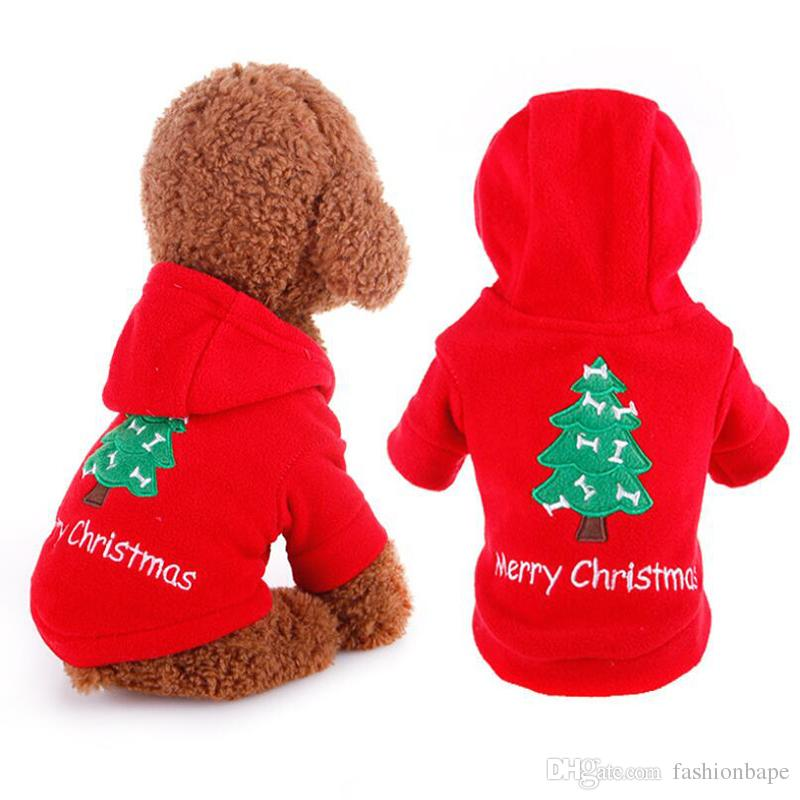 562f360d727d 2019 Pet Dog Hoodies Merry Christmas Festive Costume Cute Teddy Outwear Red  Sweaters For Dog Cat Happy New Year Apparel From Fashionbape, $7.16 |  DHgate.Com