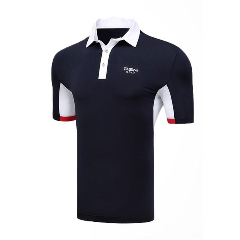 c45d28ed 2019 PGM Men Training Golf Short Sleeve T Shirt Fitness Polo Shirts ...