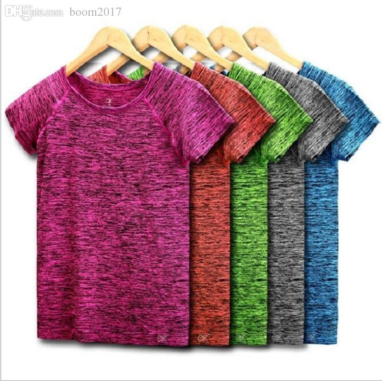 20pcs DHL 5 Colors Women Yoga Shirt for Fitness Running Sports T Shirt ,Gym Quick Dry Sweat Breathable Exercises Short Sleeve Tops