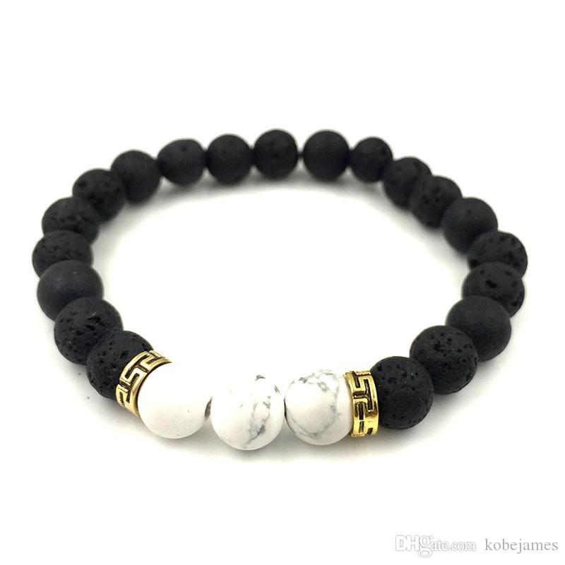 2018 neue 7 Chakra Armband Männer Black Lava Healing Balance Perlen Reiki Buddha Gebet Naturstein Yoga Armband für Frauen