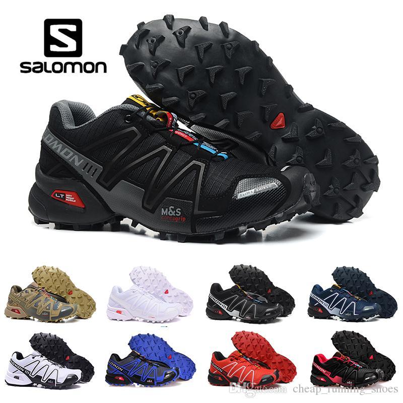 a58ec108d156 Cheap Brand Salomon Speed Cross 3 CS III Running Shoes Black Silver Red Blue  White Men Outdoor Crosspeed 3 Sports Sneakers 40 46 Top Running Shoes  Running ...