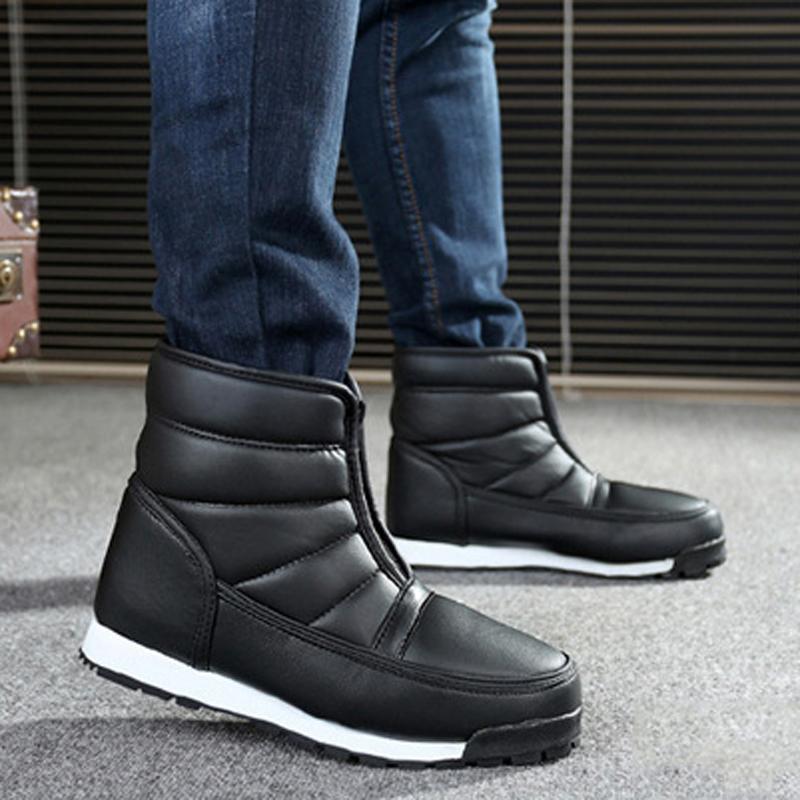 Großhandel 2019 Männer Winterschuhe 2018 Wasserdichte Rutschfeste Männer  Stiefel Plattform Warme Stiefeletten Schnee Stiefel Größe 35 46 Sneakers  Von Cn66, ... 4d89581ab8