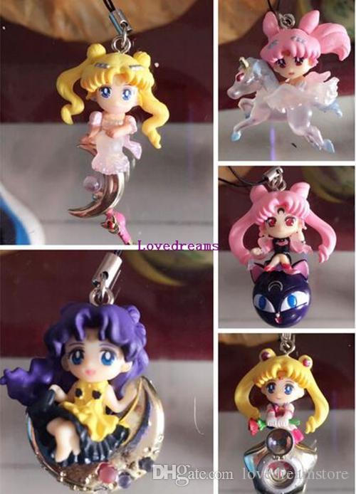 Twinkle Dolly Sailor Moon Keychain Cute Version Action Figure Pendant Japanese Anime Phone Keychain Toys Gifts