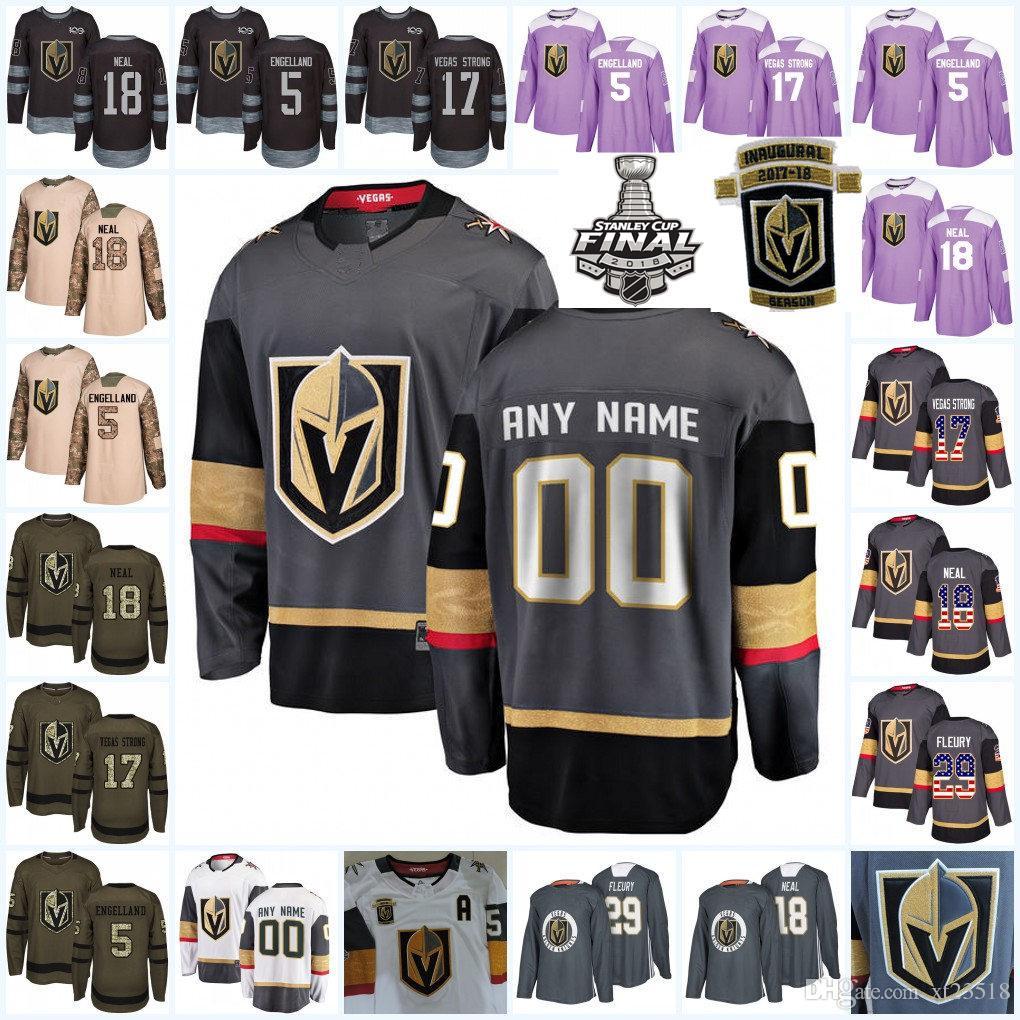 2019 Mens Custom Vegas Golden Knights Jerseys William Karlsson Deryk  Engelland James Neal David Perron Vegas Golden Knights Hockey Jersey S 3XL  From Xt23518 ... f1e7f8d5287