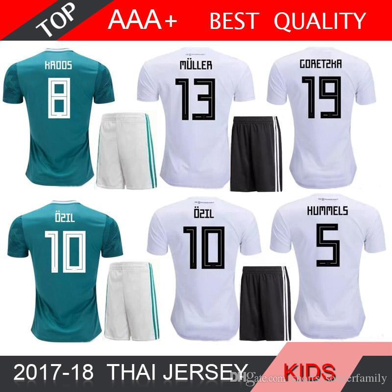 f0ef180873d9 2019 OZIL MULLER 2018 World Cup Soccer Sets GOTZE KROOS REUS BOY Football  Kits GerMANy KIDS Home Away Soccer Jersey Shorts Wears From  Sports soccerfamily